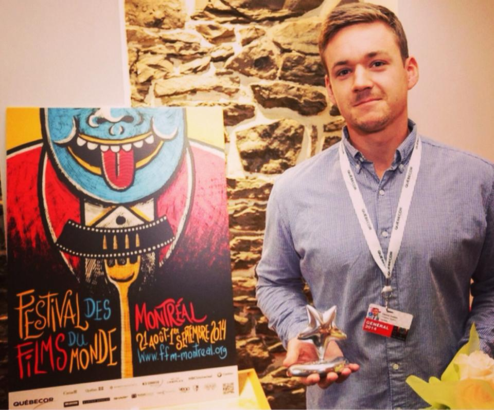 Connor Gaston at Montreal World Film Fest